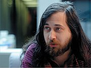 Richard Stallman, founder of the GNU project for a free operating system.