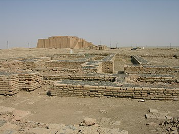 Ruins in the Town of Ur, Southern Iraq Español...