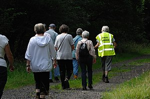 Walking for Health in Epsom, England. A group ...