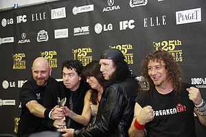 Anvil with director Sacha Gervasi and executiv...