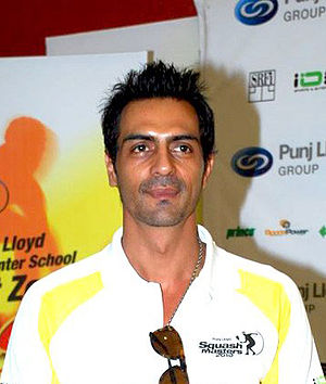 English: Arjun Rampal at the All India Squash ...