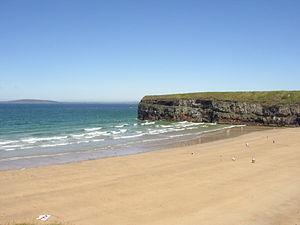 The beach in Ballybunion in Kerry of Ireland. ...