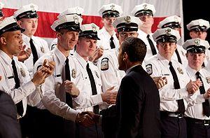 President Barack Obama at the graduation of th...