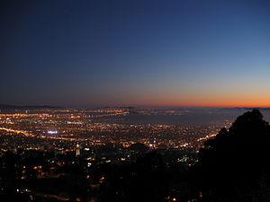 Berkeley and San Francisco Bay at Nightfall
