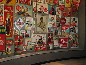 A display of Coca-Cola memorabilia at the Worl...