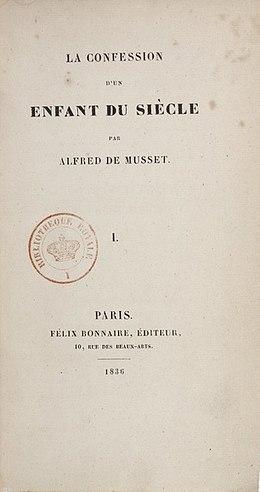La Confession D'un Enfant Du Siecle : confession, enfant, siecle, Confession, Enfant, Siècle, (roman), Wikipédia