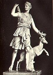 Escultura de la diosa Diana