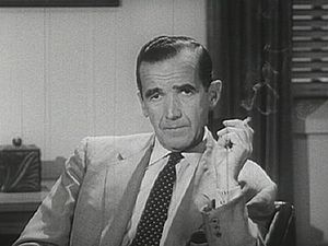 Edward R. Murrow, pioneer in broadcast journalism