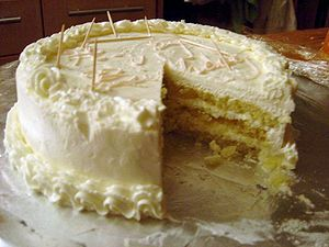 Thin layers of a genoise soaked in grand marni...