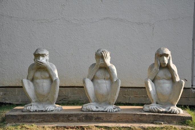 Gandhiji's Three Monkeys