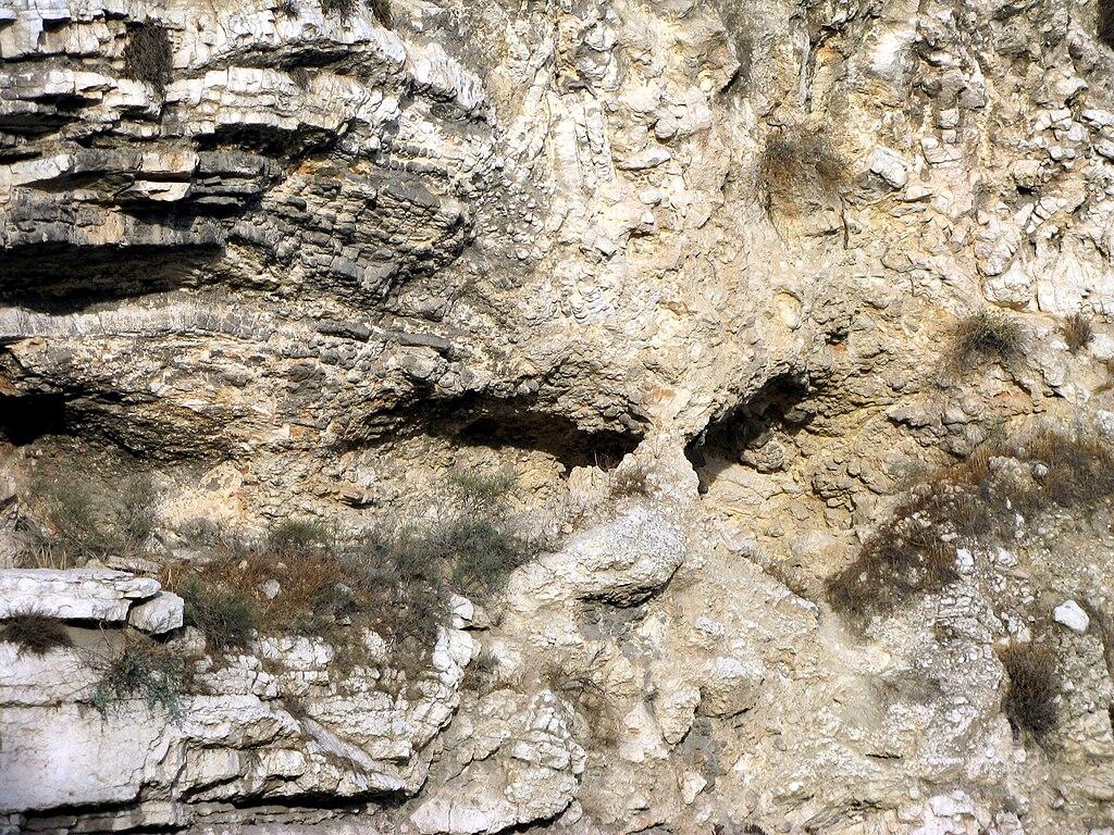 Gólgota o Calvario con aspecto de calavera