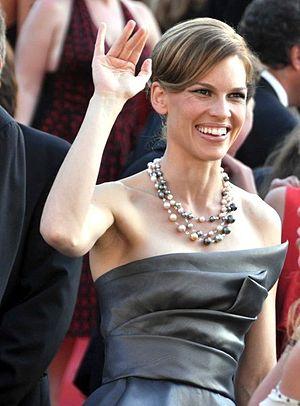 Français : Hilary Swank au festival de Cannes