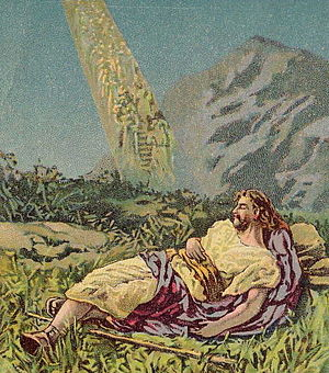 English: Jacob at Bethel, as in Genesis 28:10-...