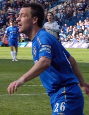 John Terry during a match vs Everton at Stamfo...