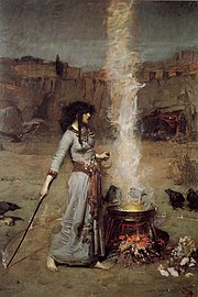 magic circle painting by John William, 1886. I chosen this picture as most appropriate because Caroline Flint complains about the inner circle. Unfortunately I have no copyright to show a picture of the Blair babes.