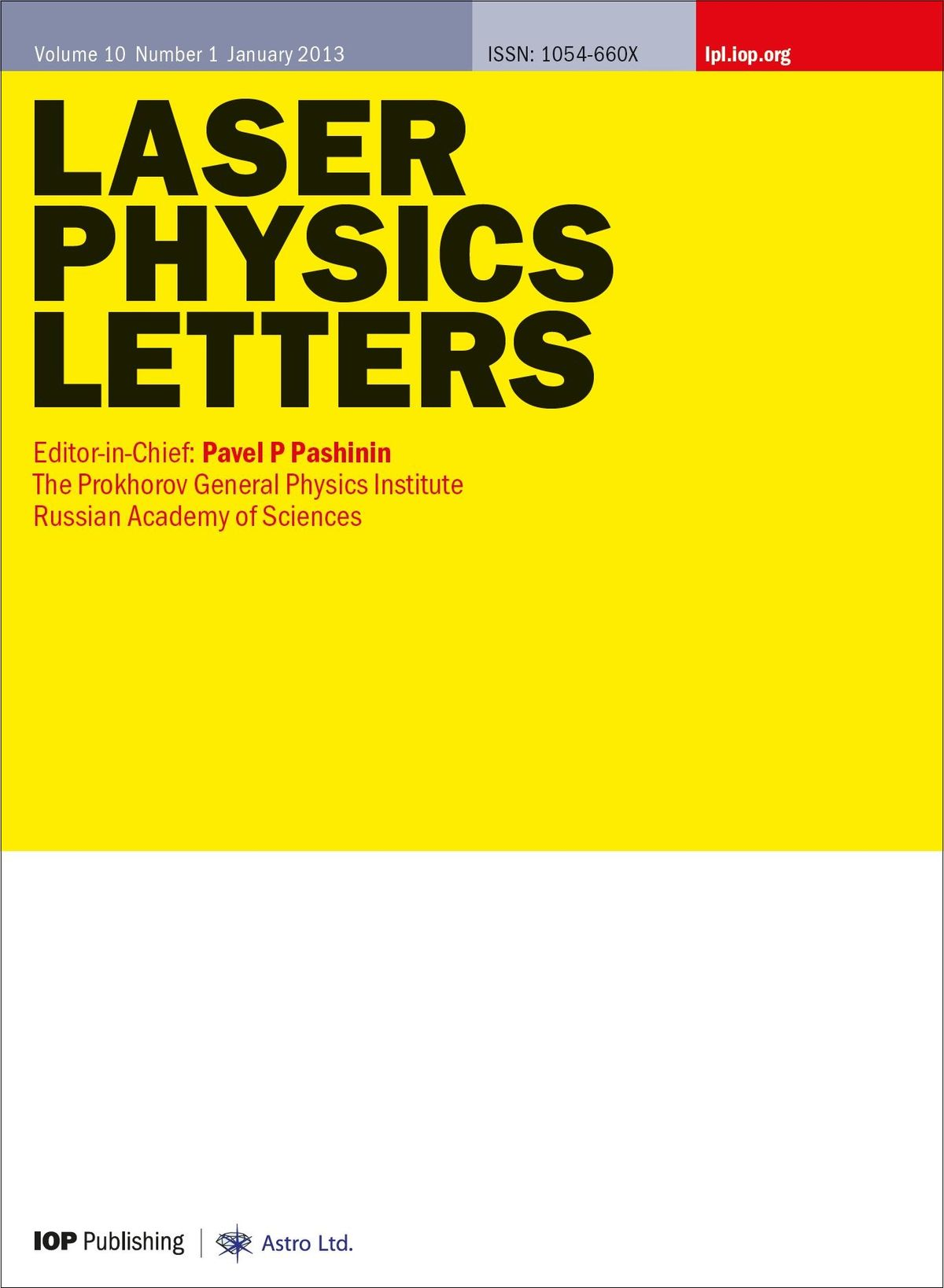 Laser Physics Letters  Wikipedia