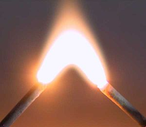 An electric arc provides an energetic demonstr...