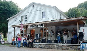 English: Live Bluegrass music and dancing at S...