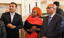 Zuma and his fourth wife, Thobeka Madiba-Zuma during a visit of Iranian city of Isfahan