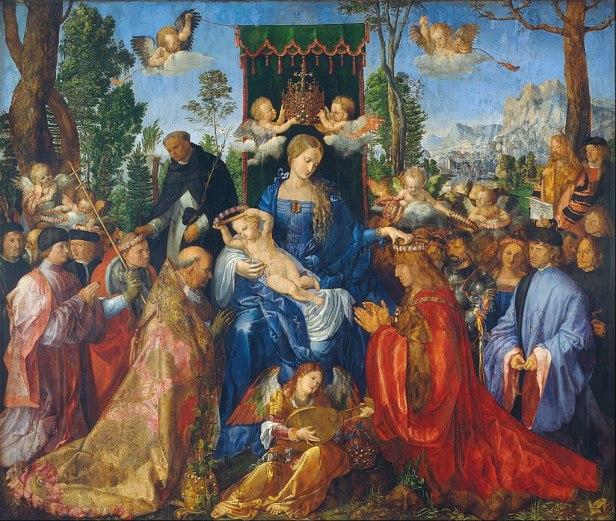 """""""Feast of the Rosary"""" by Albrecht Dürer"""