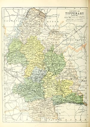 Map of the baronies of County Tipperary in Ire...