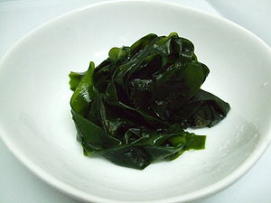 boiled Wakame ja:茹でたワカメ