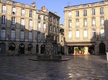 Français : Bordeaux place du parlement