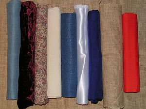 A variety of contemporary fabrics. From the le...