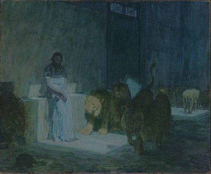 Daniel in the Lions' Den // larryhuntbiblecommentary.wordpress.com