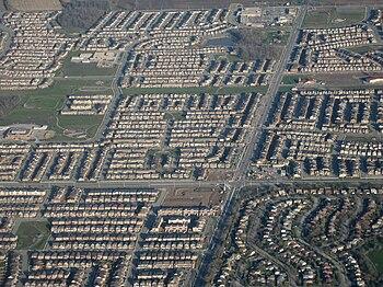 English: Suburban developments in Milton, Ontario