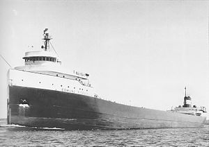 English: SS Edmund Fitzgerald underway.