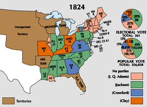 Votes in the Electoral College, 1824.