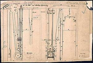 Elisha Otis's Elevator Patent Drawing, 01/15/1...