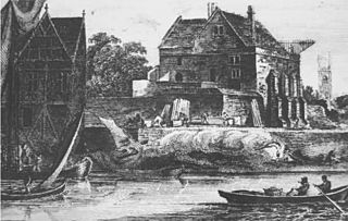 A depiction of Gloucester Castle and Gaol in the 18th century