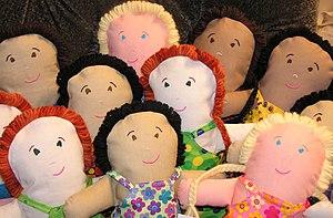 Hand-made dolls.