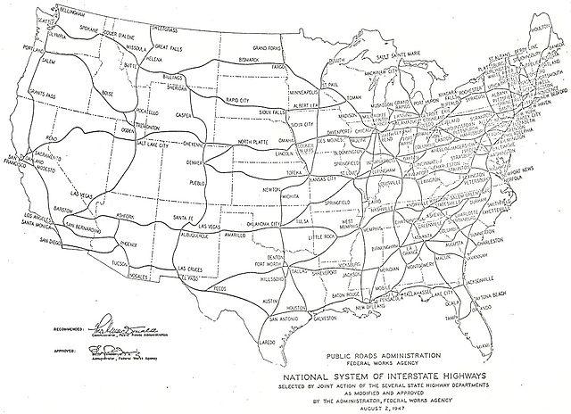 FileInterstate Highway Plan August 2 1947 Big Textjpg
