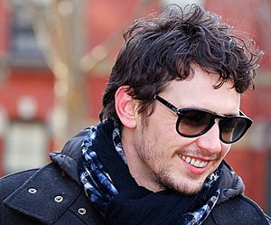 James Franco at the Harvard Yard to receive hi...