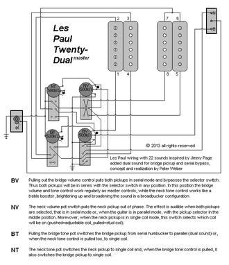 les paul wiring diagram coil tap uverse gateway guitar - wikipedia
