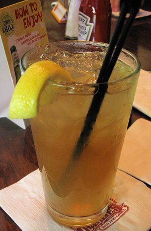 A Long Island Iced Tea in the traditional high...