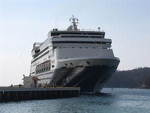 Holland America Line's MS Maasdam moored in Hu...