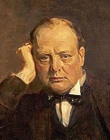 Winston Churchill Um  Portratstuvon James Guthrie Fur Statesmen Of World War I