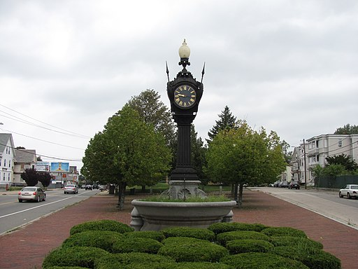 Snow Fountain and Clock, Brockton MA