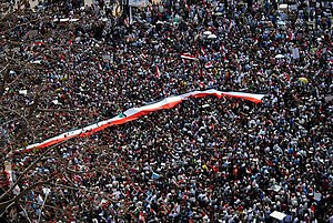 English: Over 1 million protestors in Tahrir S...