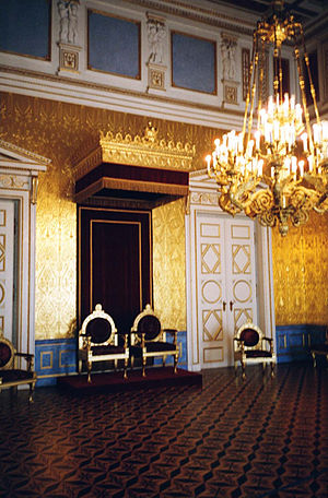 One of the throne-rooms of the Bavarian King, ...