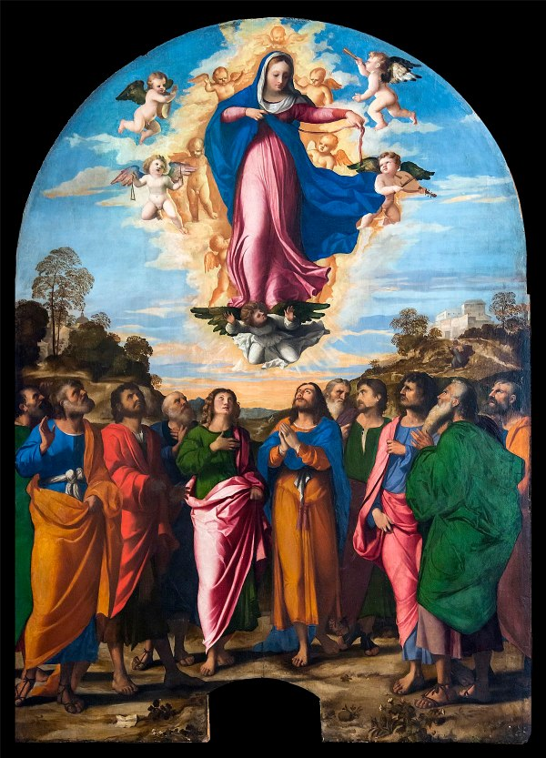 Assumption of Virgin Mary Painting