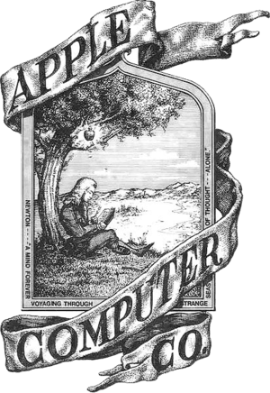 English: Apple's absolute first logo, pre 1976...