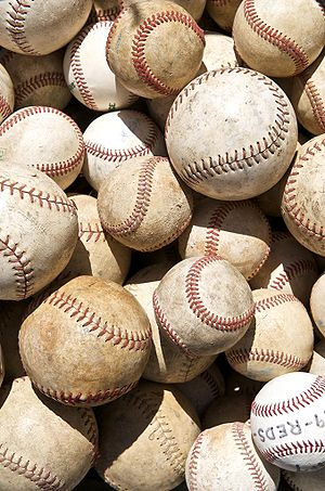Baseballs and softballs.