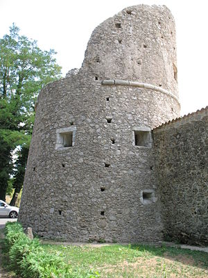 English: Carthusian of Serra San Bruno, tower ...