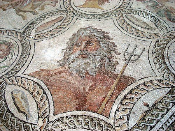 Mosaic Neptune Roman God