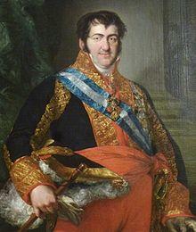 Portrait de Ferdinand VII d'Espagne par Vicente López.